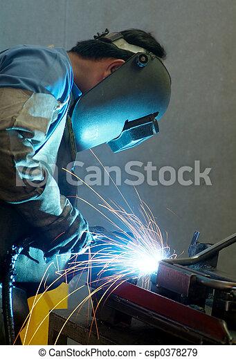 Welder at work - csp0378279
