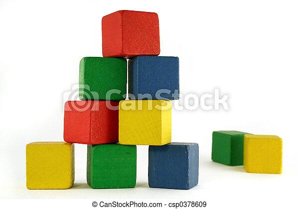 建築物, 塊 - csp0378609