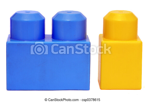 plastic blocks - csp0378615