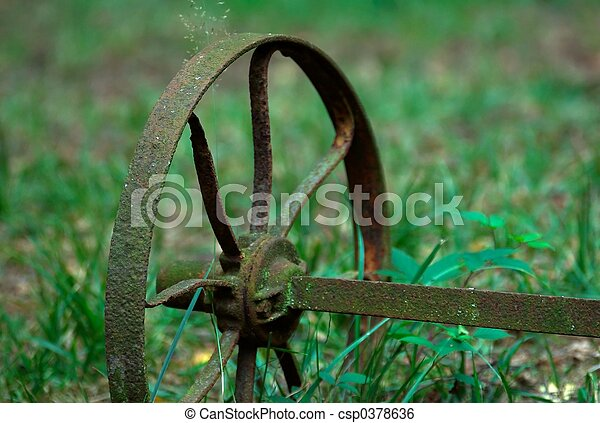 Rusty farming tool - csp0378636