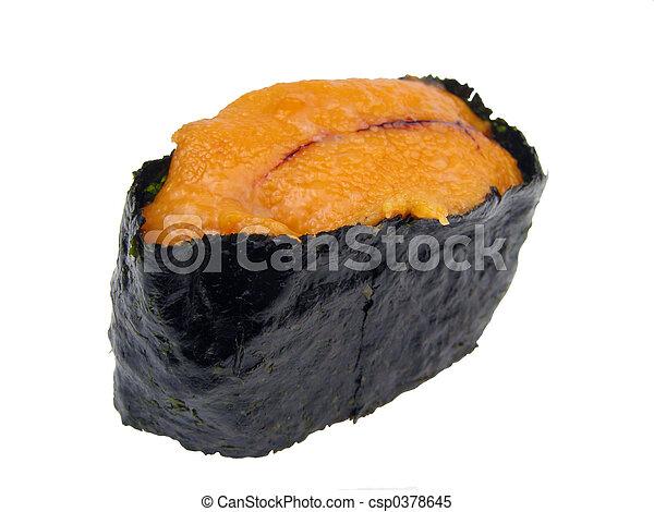 Sea urchin roe sushi - csp0378645