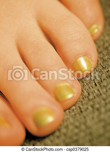 Painted toes - csp0379025
