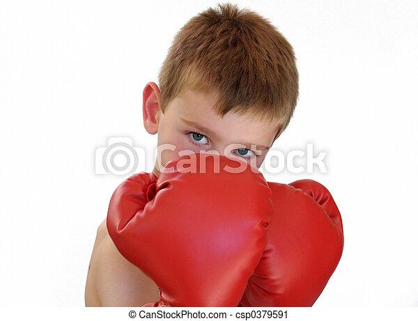 boxing boy - csp0379591