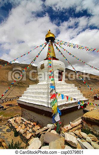 tibetanisch,  Stupa - csp0379801