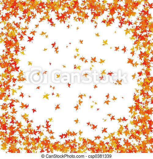 Autumn border - csp0381339