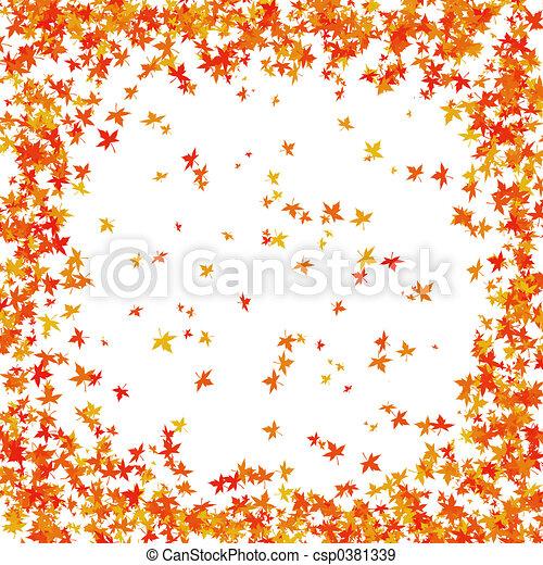 Autumn border - csp0381339