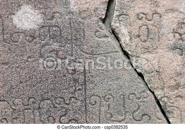 Stone Scripture - csp0382535