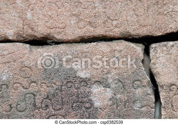 Stone Scripture - csp0382539