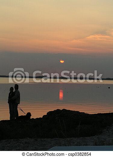 A romantic walk