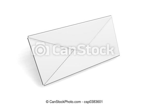 Blank envelope - csp0383601