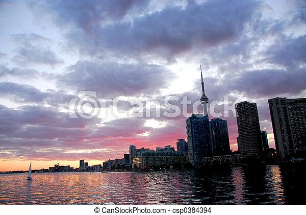 Toronto city skyline - csp0384394