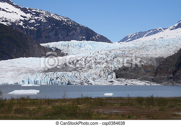 Alaskan Glacier - csp0384638