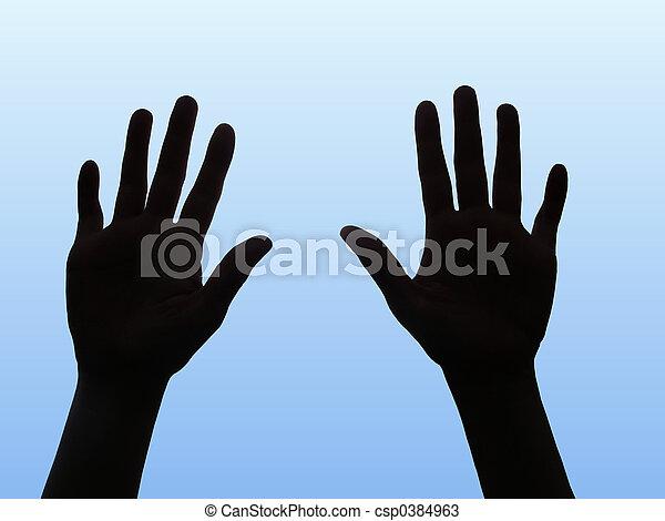 Two hands - csp0384963