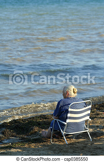 Elderly lady - csp0385550