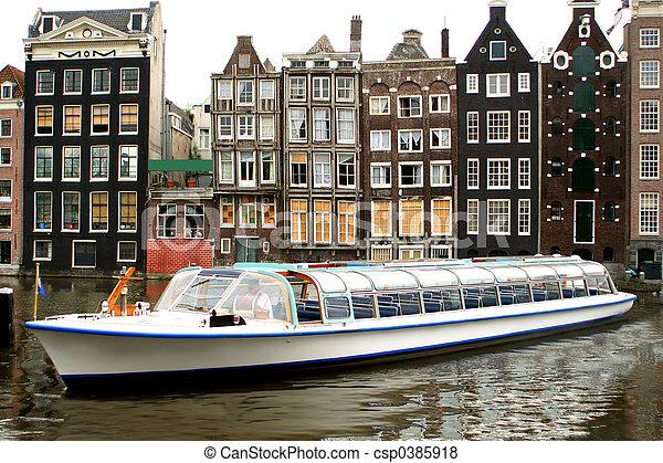 Amsterdam tourism - csp0385918