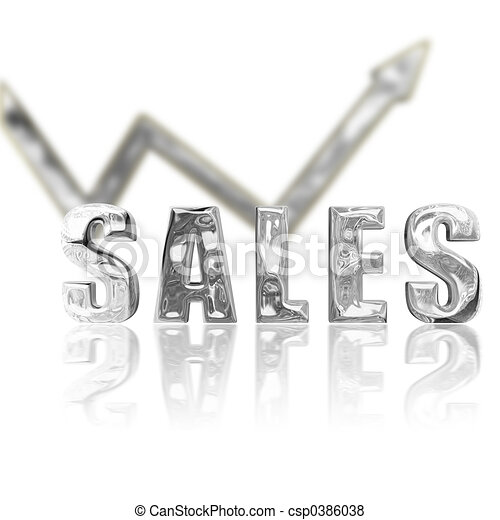 Platinum Sales Up & Up - csp0386038