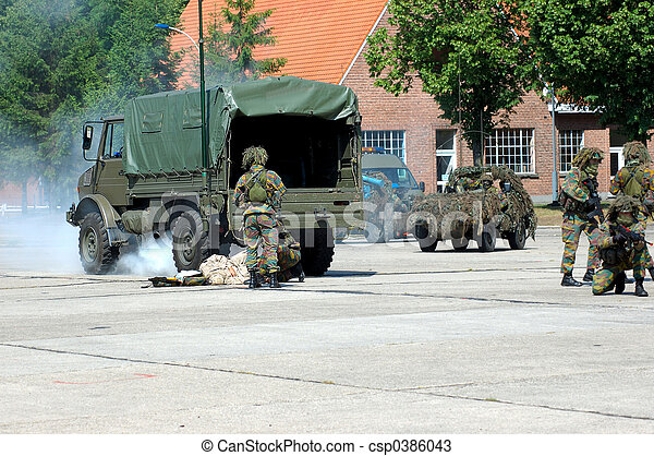 Military intervention, rescue - csp0386043