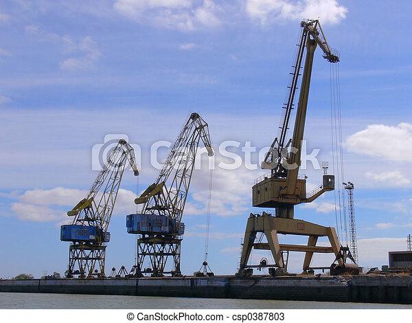 Industrial Cranes - csp0387803