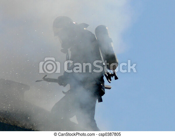 Fireman at Work - csp0387805