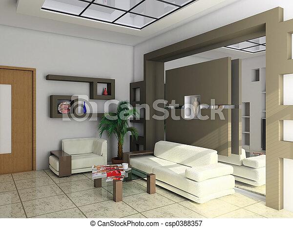 bureau, repos, salle - csp0388357