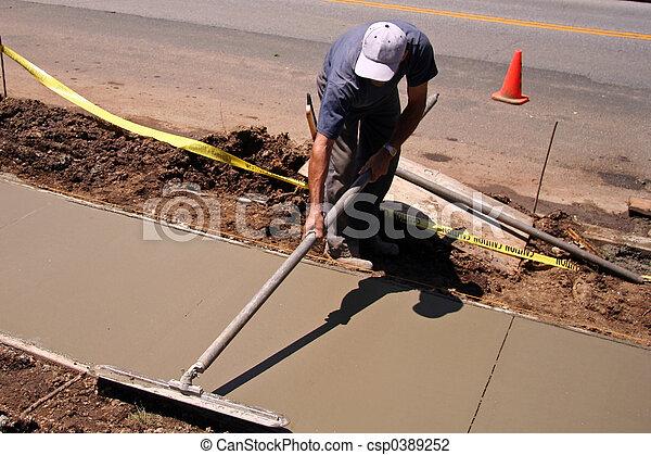 construção, trabalhador - csp0389252