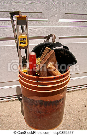 Bucket of Tools - csp0389287
