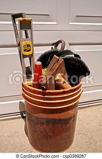 Bucket of Tools - csp0389287