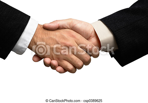 Two businessmen shaking hands - csp0389625