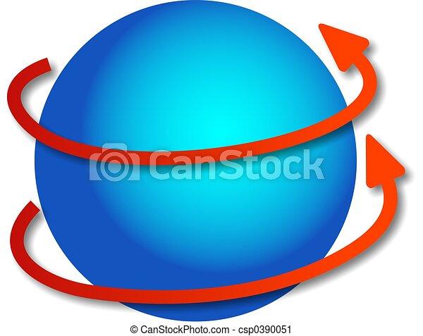 rotating globe - csp0390051