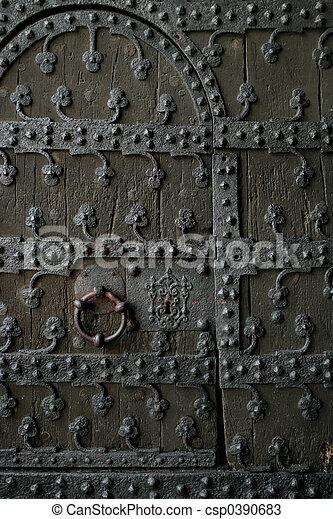 Gothic door 2 - csp0390683