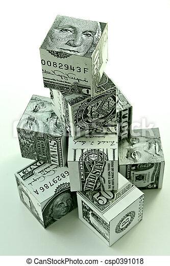 Money pyramid-financial concept - csp0391018