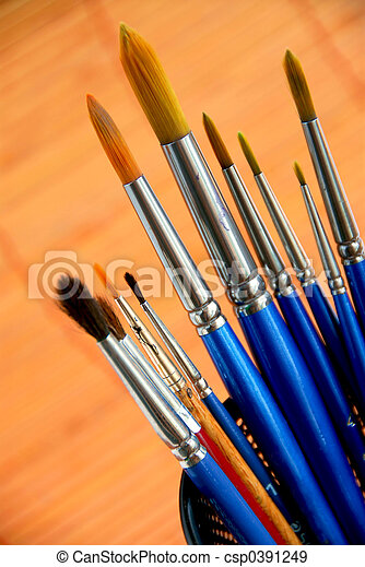 Paintbrushes holder - csp0391249