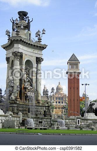 Barcelona architecture - csp0391582