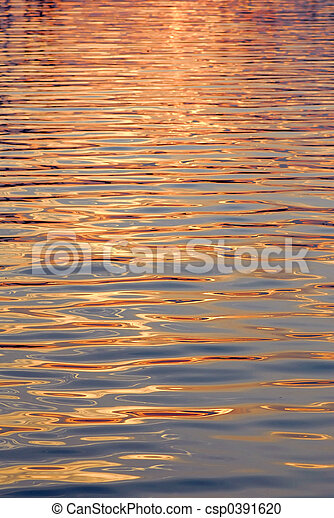 Water surface gold - csp0391620