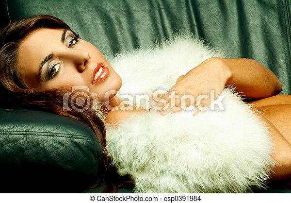 Lingerie and fur - csp0391984