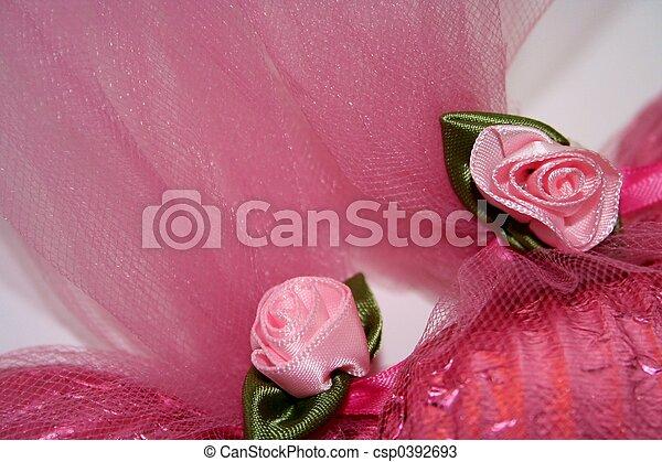 Pink Fabric Roses - csp0392693