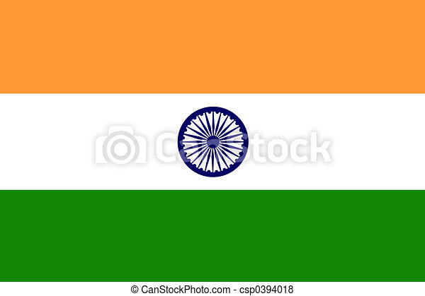 Flag of India - csp0394018