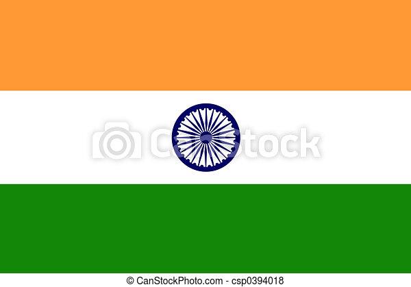 Flag of India - csp0394018