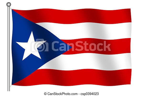 Flag of Puerto Rico - csp0394023
