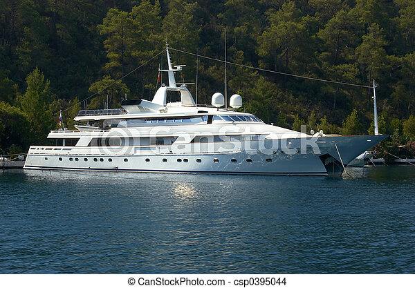 dollar, million, yacht - csp0395044