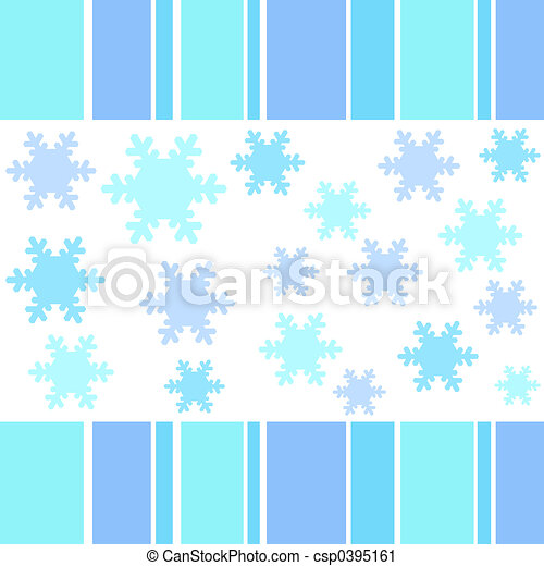 Snow flakes stripes - csp0395161