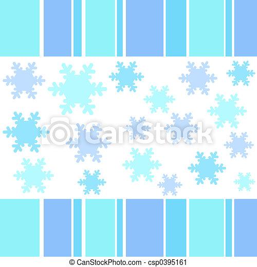 Snow flakes stripes - csp0395161