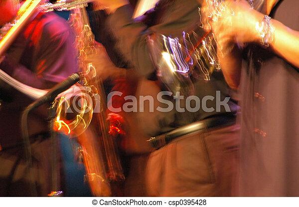 Performing musicians - csp0395428