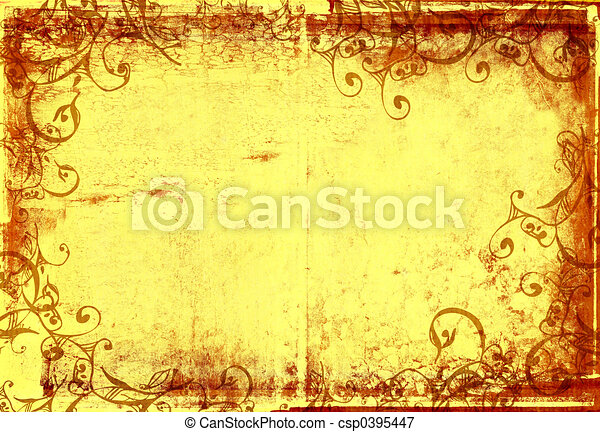 grunge warm photographic frame - csp0395447