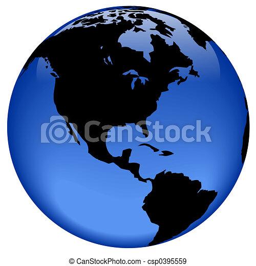 Globe view - America - csp0395559
