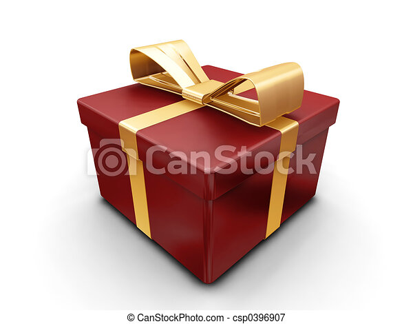 Wrapped gift - csp0396907