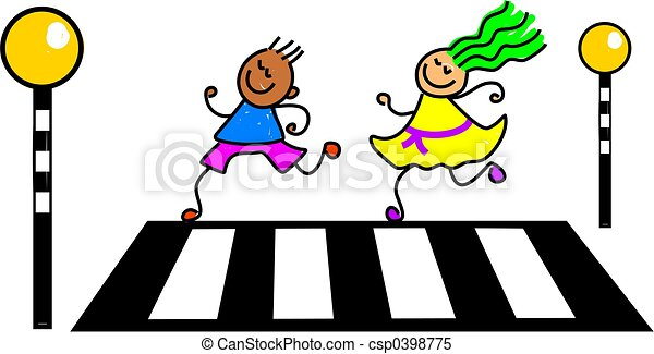 Road Safety For Children Clipart