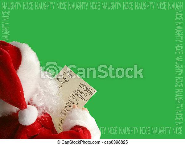 christmas santa  - csp0398825
