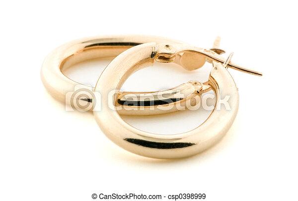 Gold Jewellery - Earrings - csp0398999