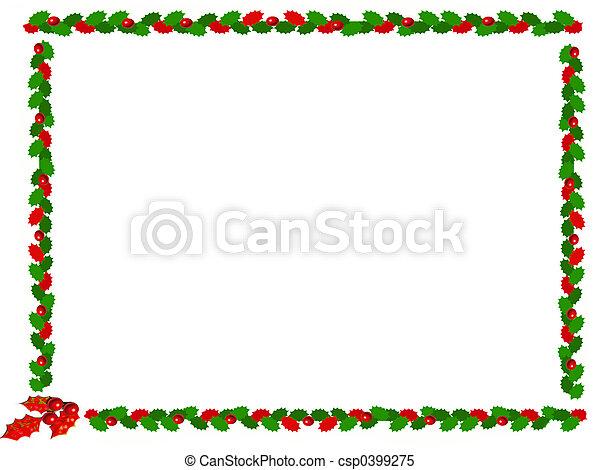 ボーダー, クリスマス - csp0399275